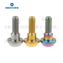 Wanyifa Titanium Bolt M6x 20mm Tapered Ball Conical Head for Yamaha Bicycle Motorcycle Brake Brakes