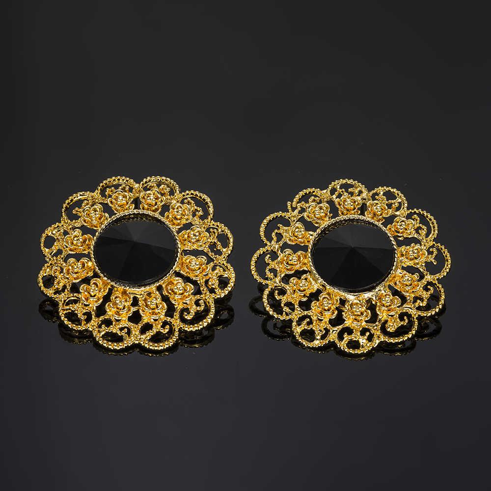 MUKUN 2018 Afrikanische frauen hochzeit schmuck-set Gold Dubai Nigerian Big Blumen Halskette ohrringe Charme Braut Schmuck Sets Design