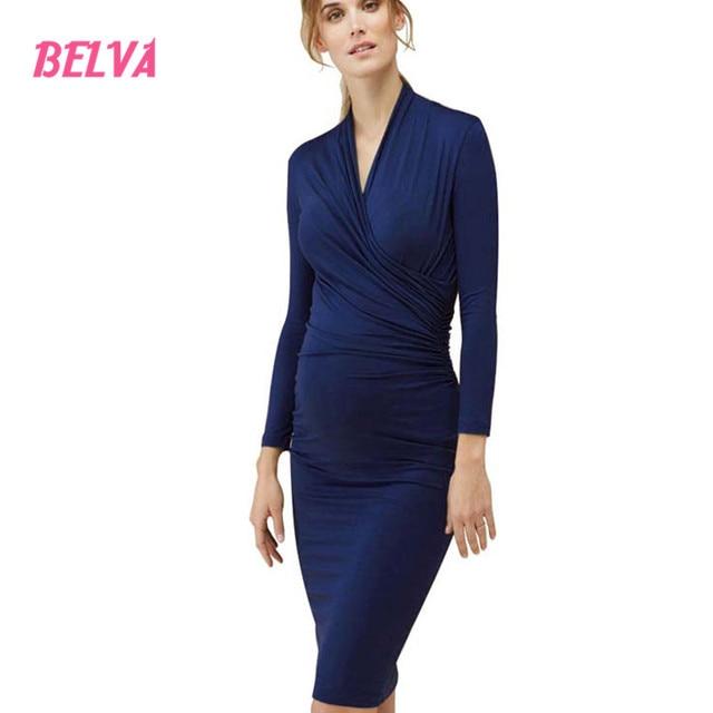 edec7b7e8 Belva Maternidad ropa para amamantar vestidos para las mujeres embarazadas formal  Maternidad desgaste rodilla-longitud