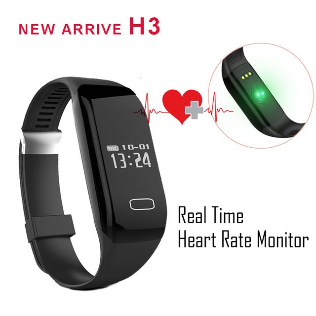 New Detachable Wristband H3 real Heart Rate Smart Bracelet BT4.0 Passometer Sports Fitness Tracker Smartband for ios Android