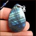 Promoção Natural Labradorite Gemas Mini Pingente Gota de Suspensão JS955 Collares Colar Pedra Natural Pingentes de Jóias Para homens