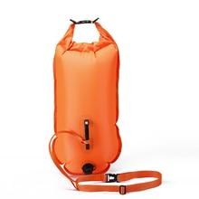 QUBABOBO Yüzücüler, Triatletler ve Snorkelers için Kuru Çanta ve Cep Telefonu kılıfı ile Şamandıra Açık Su Şamandıra Şamandıra