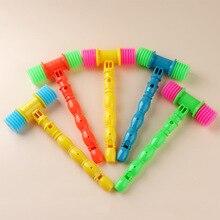1 шт., маленький музыкальный инструмент, игры, развивающие игрушки для детей, пластиковый вокальный стук, молоток, детские свистки, подарок