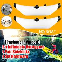 2Pcs PVC Inflatable Boat Kayak Outrigger Canoe Boat Standing Float Stabilizer Standing Float Buoy 101cm Aluminum Alloy Rod