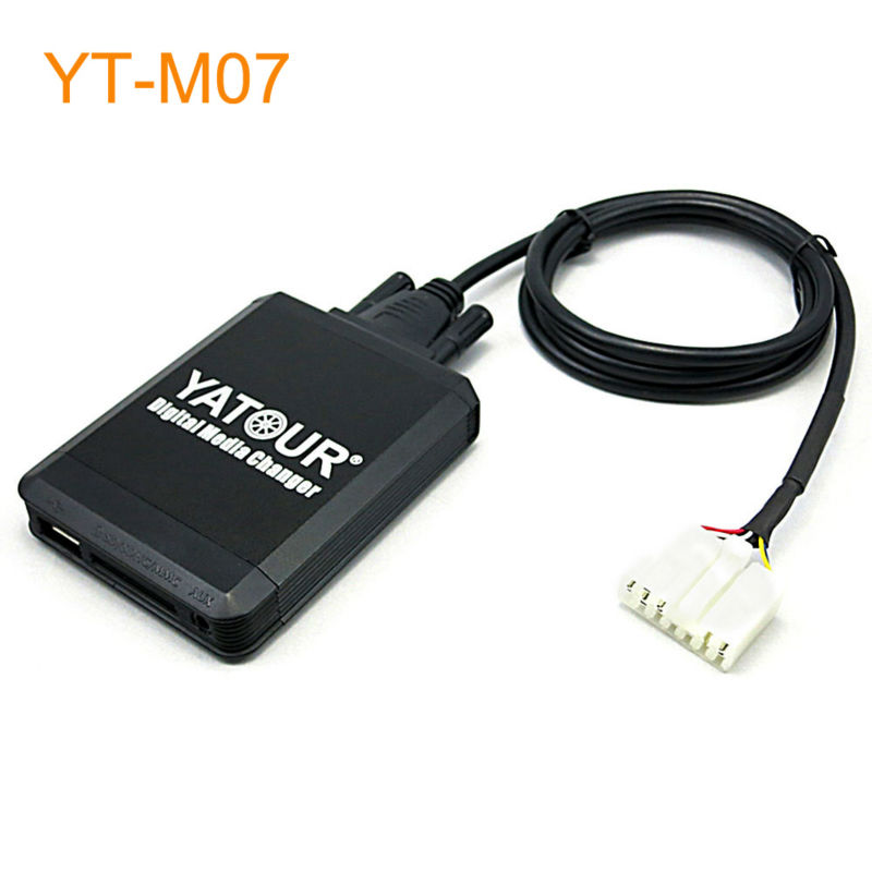 Yatour Car MP3 USB SD CD Changer for iPod AUX with Optional Bluetooth for Toyota Carina Celica Coaster Highlander Land Cruiser yatour digital cd changer car stereo usb bluetooth adapter for bmw