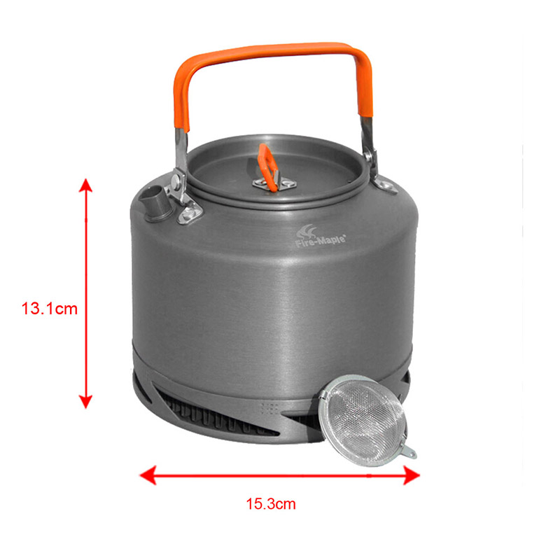 Fire Maple FMC XT2 Hard Anodizing Aluminum Heat Collecting Exchanger Kettle Camping Picnic Coffee Pot Cookware Sets 1.5L 308g