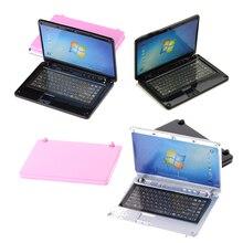 Computer Dollhouse Decoration Diy-Accessories Laptop Miniature-Alloy Crafts 1:12 Fashion