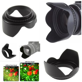 55mm kwiat kamery osłona obiektywu do aparatu Nikon D3400 D3500 D5600 D7500 z AF-P DX NIKKOR 18-55mm f 3 5-5 6G obiektywy VR tanie i dobre opinie neopine Canon Fujitsu Fujifilm Sigma Tamron Sony Uniwersalny SAMSUNG Olympus Sony Minolta Pentax FL-007 Lens Hood shades the lens from stray light improving your contrast