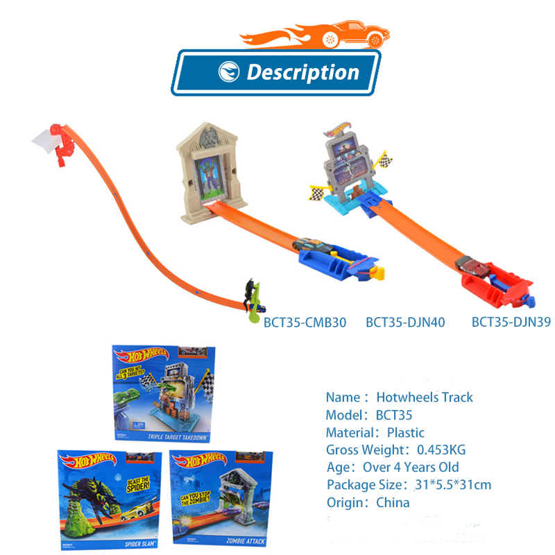 Genuine Hot Wheels Car Track Set Easy Style Upgraded Version Hotwheels Car Track Model Bct35 For Kid Birthday Gift Diecasts & Toy Vehicles