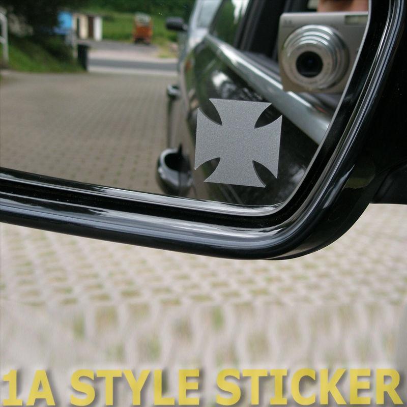 Car Styling For 2x Iron Cross Aufkleber Spiegel Iron Cross