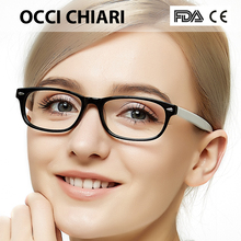 OCCI CHIARI Eye Glasses Frames For Women 2018 Acetate Myopia Clear Lens Frames Optical Demi Pink Eyeglasses Spectacles W CERIO