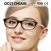 Occi chiari óculos de olho quadros para mulher 2018 acetato miopia clara lente quadros óptica demi óculos rosa W CERIO