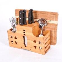 Multifunktions Holzständer Messerhalter Schneidebrett Blöcke Gabel Küchenmesser Block Bambus Messer Rack Küche Liefert
