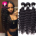 Raw Indian Hair Deep Wave Glam Star Hair 3 Bundles Unprocessed Indian West Kiss Virgin Hair Curly Weave Unice Hair Company