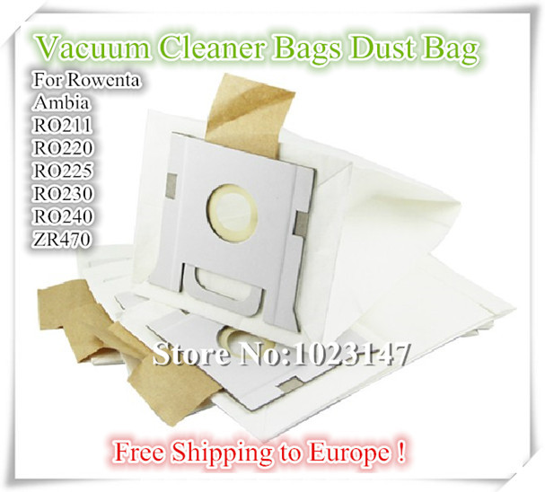 10 pieces/lot Cleaners Accessories Bags Paper Dust Bag for Rowenta Vacuum Cleaner Ambia;Ambia RO211;RO220;RO240;ZR470 etc. rowenta ro 5825