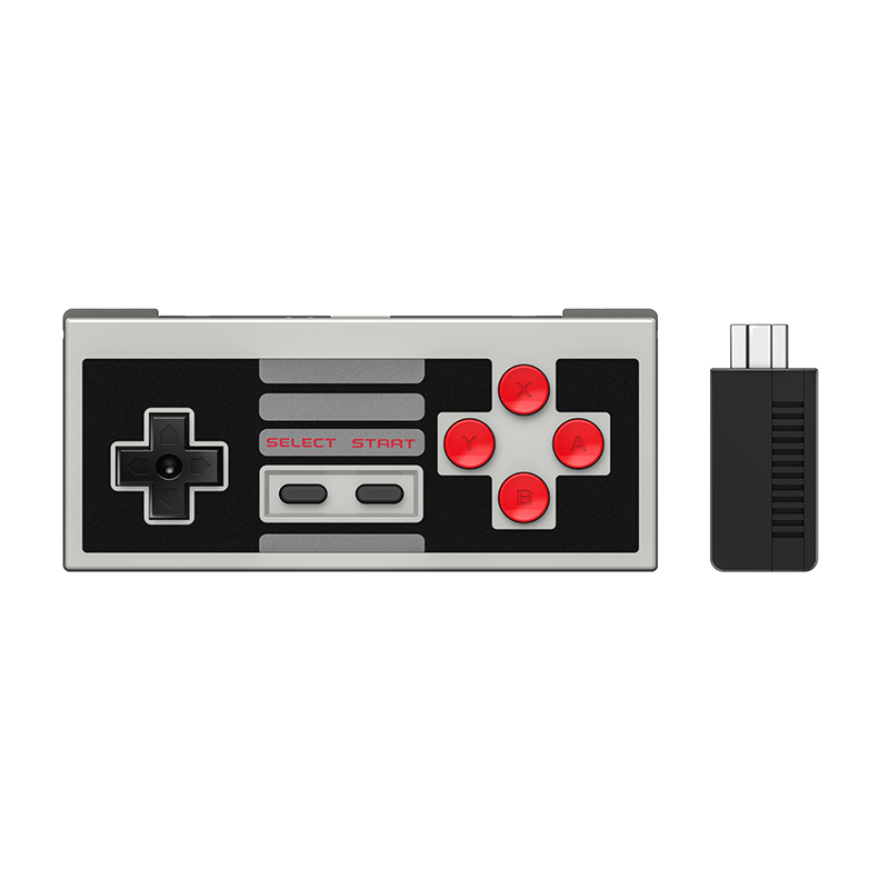 8Bitdo NES30 Classic Edition Wireless Controller Set with Bluetooth Retro Receiver Mini Support Switch Joy Cons