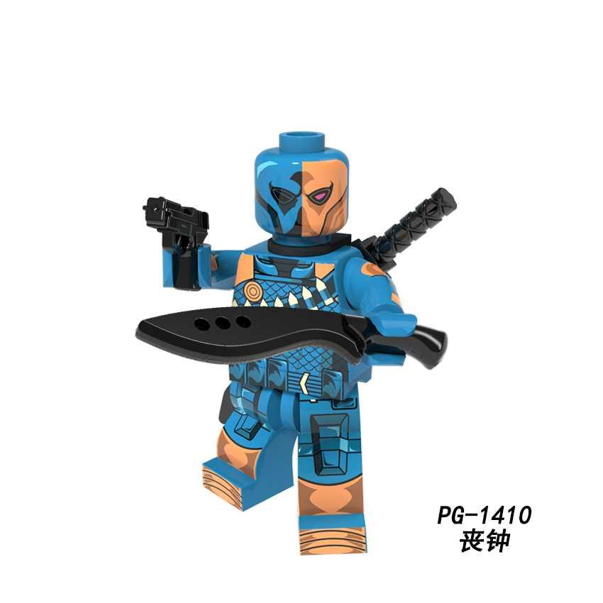 DC superbohater Dick Cowboy Deadpool Deathstroke Catwoman Joker red hood Raccoon Ghost Rider klocki Legoed Minifigured