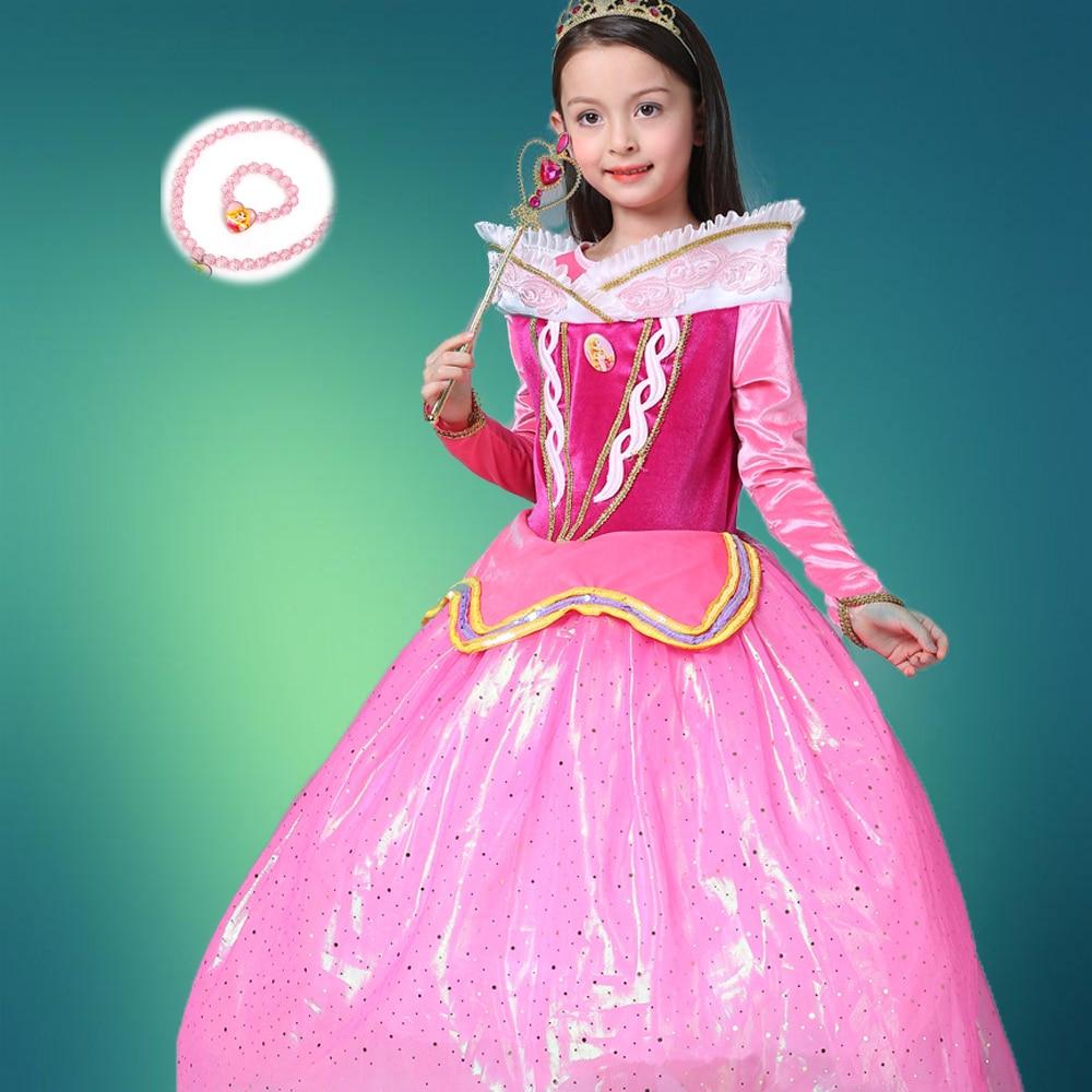 Spring Princess Sleeping Beauty Dresses For Fat Girls -2129