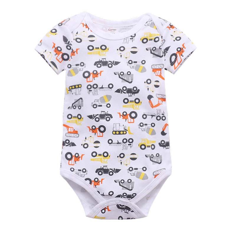 Baby Bodysuit Summer Body Suits Boy Girl Short Sleeve Clothes Newborn Clothing Set Fashion Unisex New Born Costume 2019 Cotton