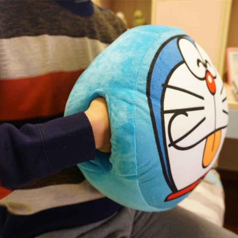 1pc Kawaii Plush Doraemon Hand Warmer Laugh Tongue Thrust 2 Kinds Of Expressions Doraemon Toys Birthday Gifts