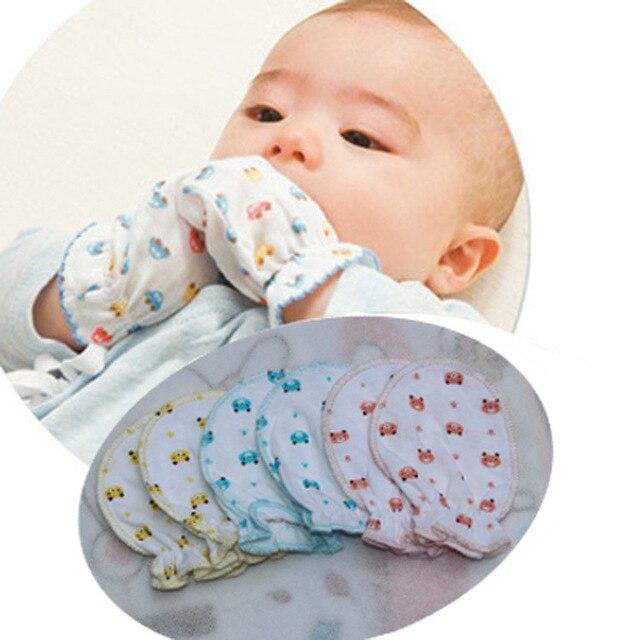 0170317b96c03 Nouveau-né bébé moufles coton Anti rayures bébé gants pour 0 6 mois bébés  nouveau