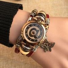 Excellente Qualité Chaude Antique Bracelet En Cuir Montres Vintage Femmes Montre-Bracelet De Mode Unisexe Montres À Quartz Relogio Feminino