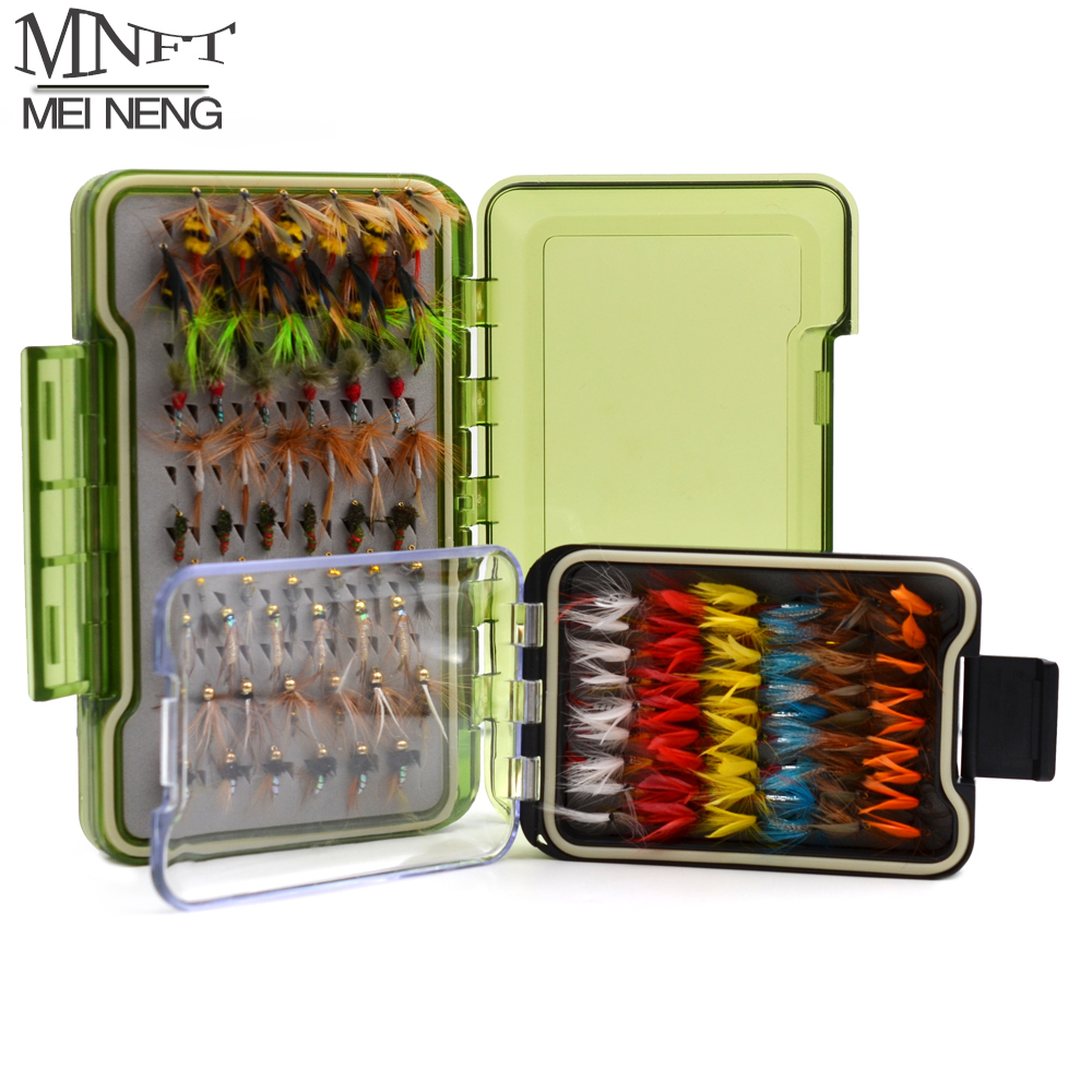 FLY FISHING TACKLE  BOX  AND  12 TROUT FLIES