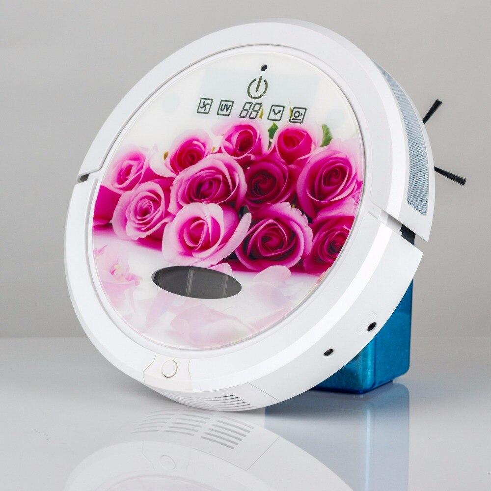 Бесплатный в Португалии и Испании налог включает романтическую любовь ColorAspiradora робот пылесос, который может работать на черном ковре