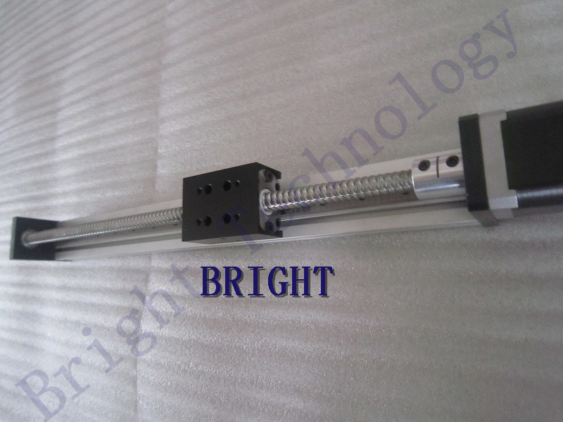 SFU1605 Linear Rail Guide Stage Ball Screws 800mm Travel Length+ 57 Nema 23 Stepper Motor DIY CNC Router 1220 800 one head belt driven linear actuator custom travel length linear motion motorized linear stage belt driven stage