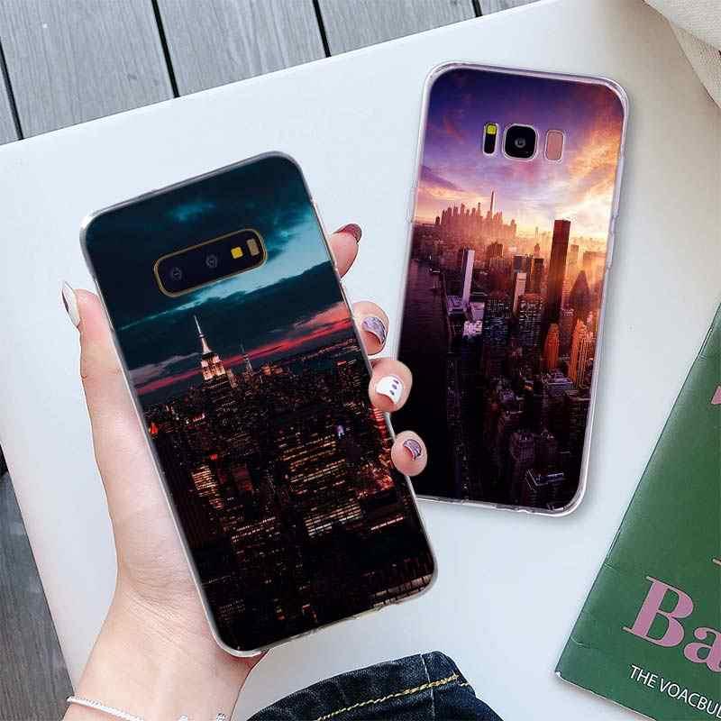 NYC Нью-Йорк городской пейзаж чехол для телефона для samsung Galaxy S10 Plus S10e S8 S9 Plus S6 S7 edge A50 Note 8 9 TPU Мягкий силиконовый чехол