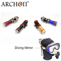 ARCHON D1A mini Flashlight XP E R2 LED Diving Light Underwater 50 meter Torch For 1* AAA Battery with diving mirror