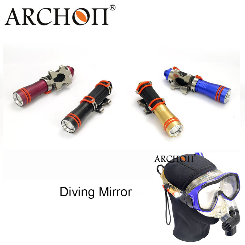 ARCHON D1A mini Flashlight CREE XP-E R2 LED Diving Light Underwater 50 meter Torch For 1* AAA Battery with diving mirror free shipping stepper motor 17hs13 0404s l 33 mm nema17 with 1 8 deg 0 4 a 26 n cm and bipolar 4 wire