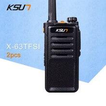 (2 PCS)Black Walkie Talkie UHF 400-470 MHz MINI-Handheld Transceiver Two Way Ham Radio Communicator