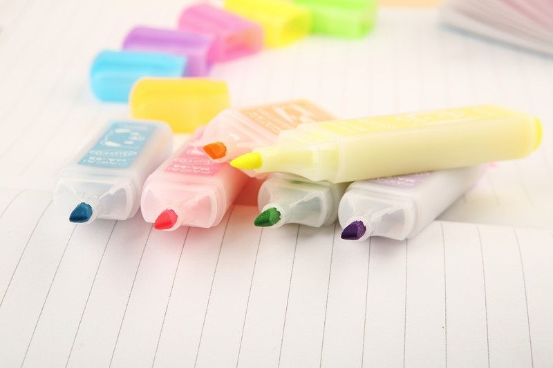731a24c568e6 US $3.51 28% OFF 6 pcs/set Korean stationery highlighters Lovely animal  candy color marker pen paints material office school supplies canetas-in ...