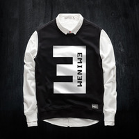 Winter EMINEM Themed Sweatshirts For Mens Hip Hop Crew Neck Hoodies For Young Boys 3XL