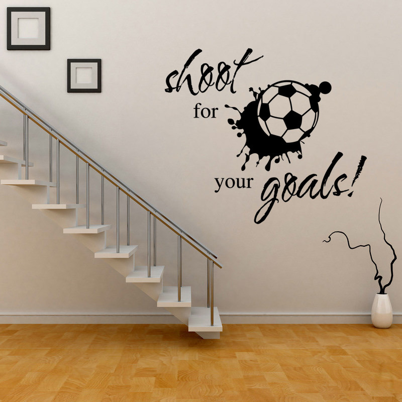 Free shipping DIY vinyl letters football wall sticker children bedroom room living room the classroom decoration wall stickers