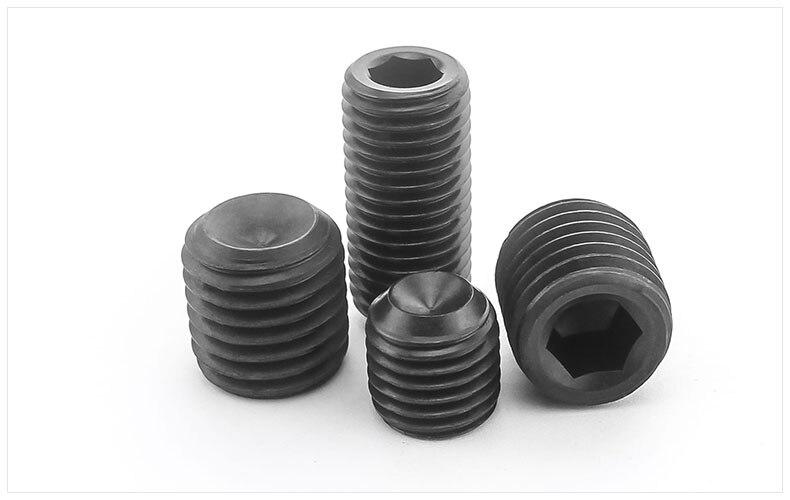 DIN916 12.9 carbon steel Concave set screws hex socket black Chimi screws M10 M12 M14 screw headless Top wire machine screw футболка dc concave black