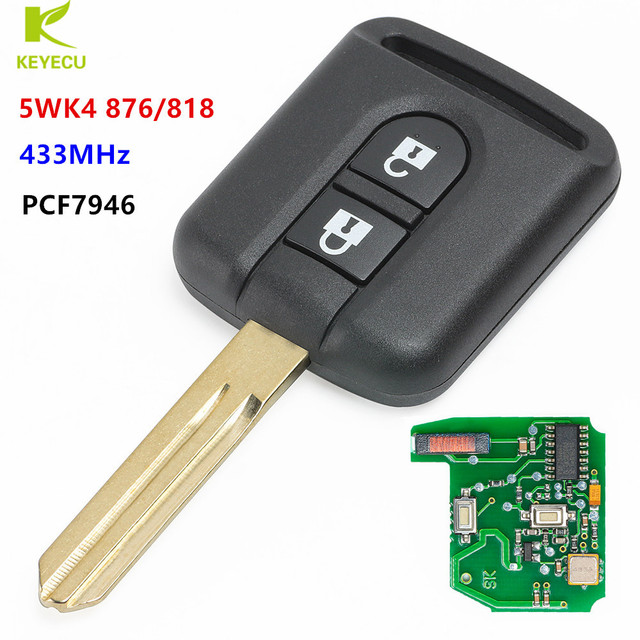 keyecu replacemnet new remote transmitter key fob 2 button 433mhzkeyecu replacemnet new remote transmitter key fob 2 button 433mhz id46 for nissan navara dualis pathfinder p n 5wk4 876 818