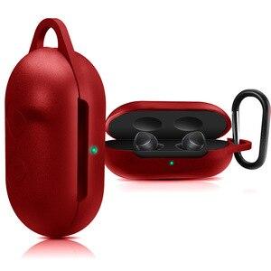 Image 4 - Beschermhoes Cover voor Samsung Galaxy Buds Oortelefoon Flip open Siliconen Case Waterdicht Schokbestendig Gevallen met Karabijnhaak