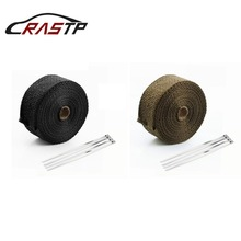 RASTP - 5M/10M Heat Exhaust Thermo Turbo Wrap Tape Intake Intercooler Reflective Insulation Kit Car Accessories RS-CR1007