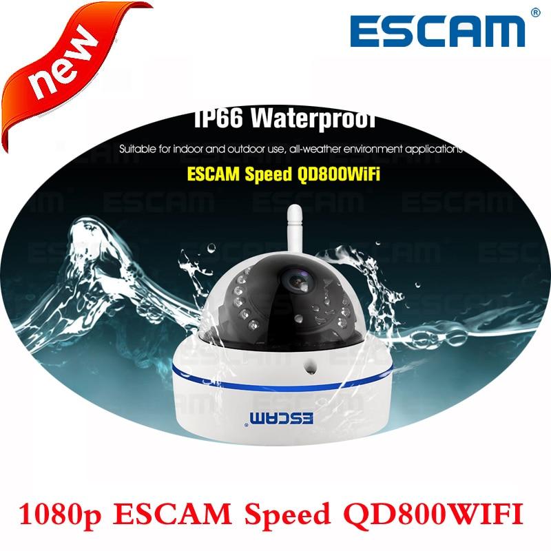imágenes para ESCAM Velocidad QD800WIFI 1080 p Onvif P2P wifi IP Cámara Domo IR IP66 a prueba de agua al aire libre inalámbrica de Visión Nocturna de Seguridad CCTV cámara