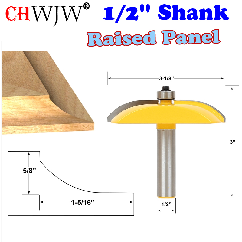 1pc 1/2 Shank Raised Panel Router Bit - Cove Door - 3-1/8 Diameter Woodworking cutter Tenon Cutter for Woodworking Tools 1pcs 8mm shank entry door for long tenons router bit woodworking cutter woodworking bits tenon cutter for woodworking tools