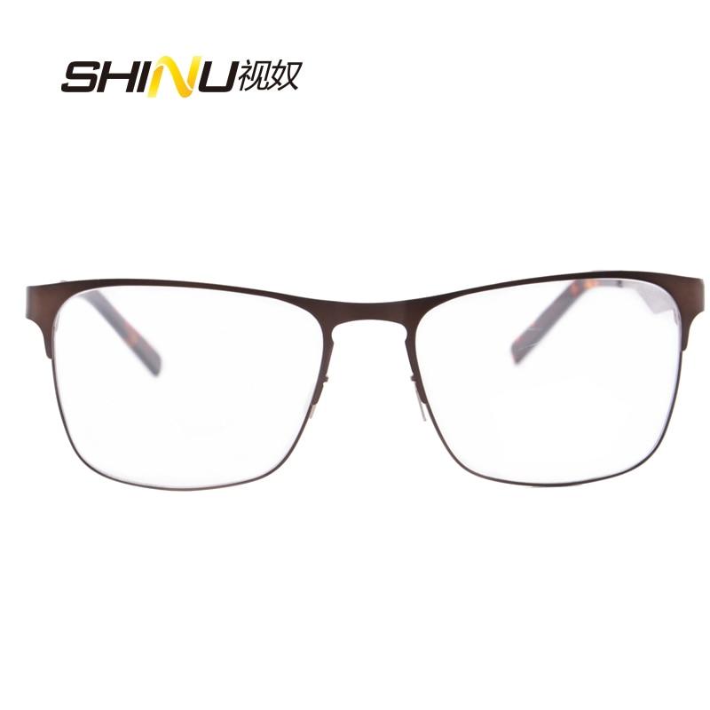 očala moški optična očala okvir prilagodljivo kovinsko steklo iz - Oblačilni dodatki - Fotografija 2