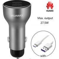 Huawei Mate 20 20Pro 20X Original Car Charger Supercharge with 5A Type C Cable for Mate 9 10 P20 Pro P10 plus Honor 10 V10
