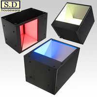 Source de lumière coaxiale COL-60 60*60mm Source de lumière de Vision industrielle éclairage de LED automatique détection rouge bleu blanc