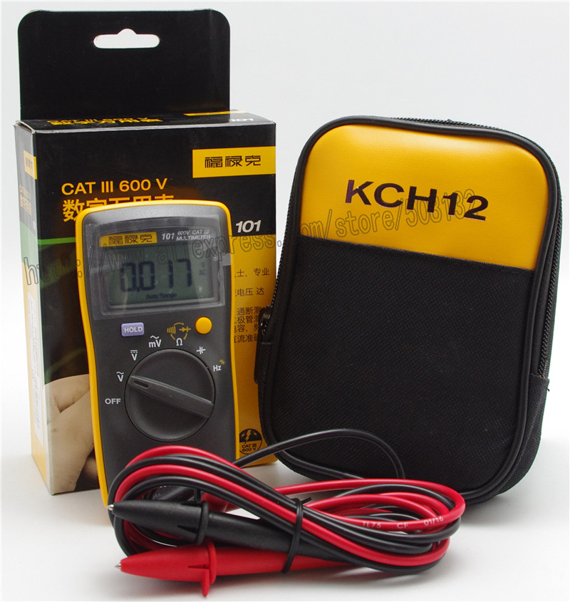 FLUKE 101 With Soft Case KCH12 Portable Handheld Digital Multimeter DMM Meter