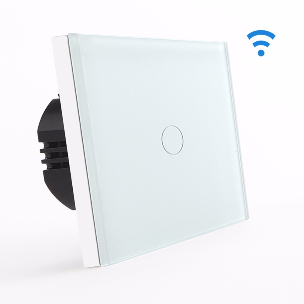 Touch Switch Remote 1 Gang 1 Way Touch Light Switch Wall Switch by BSEED Express Delivery 5 Years Warranty, White Black Gold smart home us au wall touch switch white crystal glass panel 1 gang 1 way power light wall touch switch used for led waterproof