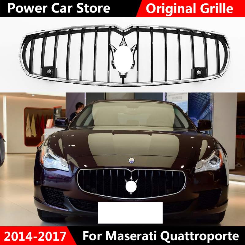 Fit For Maserati Quattroporte Chrome Black Front OEM Original  Bumper Grill 2014 - 2017 NEWFit For Maserati Quattroporte Chrome Black Front OEM Original  Bumper Grill 2014 - 2017 NEW