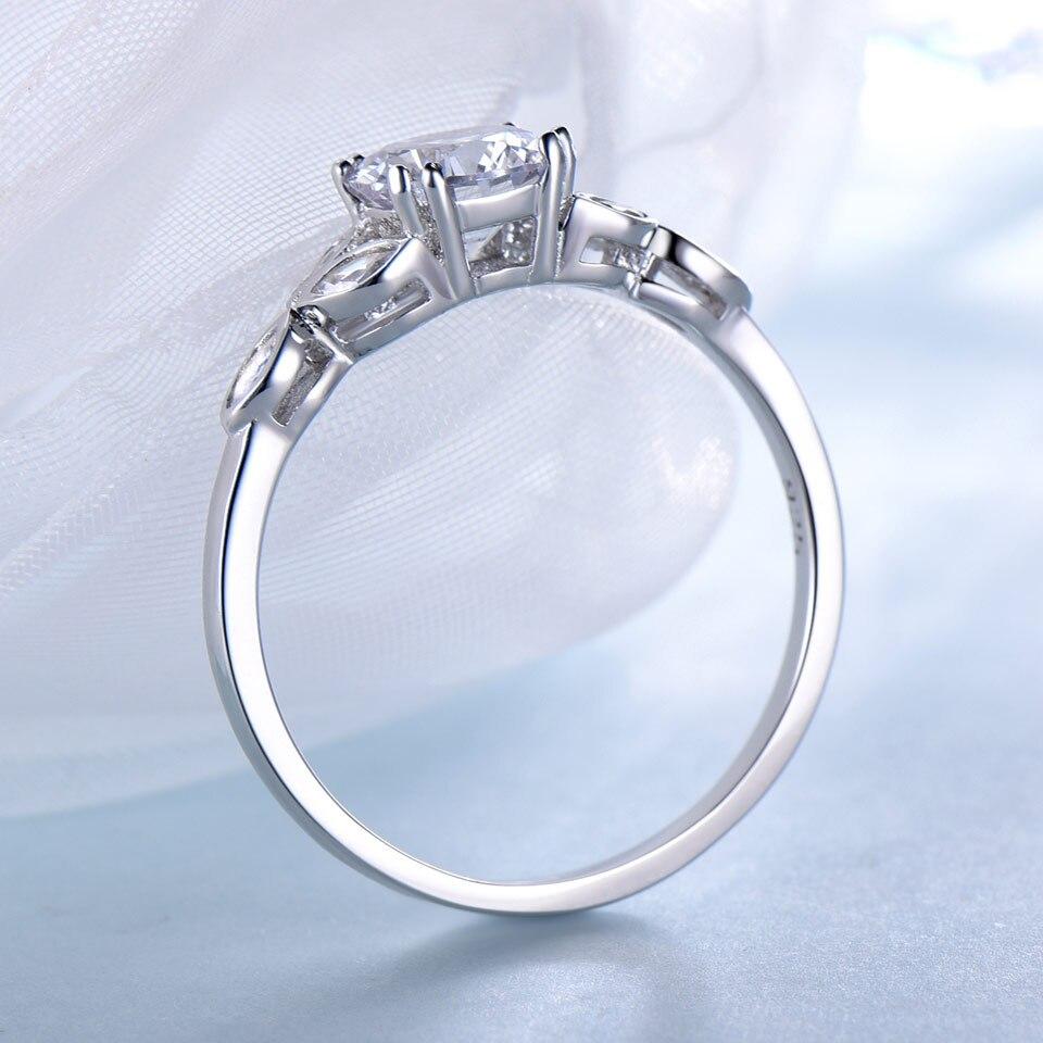63814357844d JewelryPalace esmeraldas verdes 925 moda Princesa Diana anillo de compromiso  para las mujeres solitario Venta caliente
