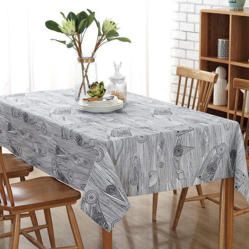 Cotton Linen Tablecloth Decorative Cover Kitchen Home Decoratio LOVRTRAL Retro Wood Grain Printed Cotton dust proof table cloth Tablecloths  - AliExpress